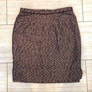J. Crew collection rose gold tweed skirt